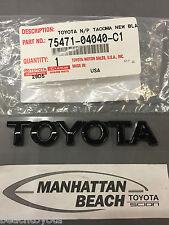Toyota ONYX BLACK Emblem Genuine TOYOTA OEM  75471-04040-C1