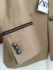 RRP £95 Men's ZARA MAN Military Style Jacket Size 40/ 50 EU Beige BRAND NEW Tags