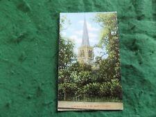 Postcard London: Wimbledon St Mary's church tint Collectors