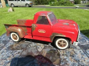 Vintage Tonka Pick Up, Red Dodge Pressed Steel Truck,13.5 inches, RESTORE ME