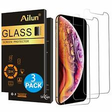 iPhone Ten X XS Screen Protector Tempered Glass Clear HD 9H Hardness Sharp 3 PC