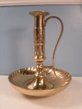 """Solid Brass Chamber Candlestick with Handle 7"""""""