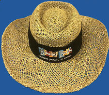 Hat, straw hat for Bimini Bob's black hatband, new, never worn