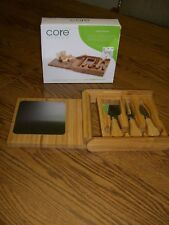 CORE Bamboo Classic Cheese Set/4-Piece/Natural/Cutting Surface Stainless