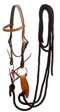 WESTERN HORSE TRAINING BRIDLE W/ MECATE REINS & SLOBBER STRAPS & BIT NO WORRIES