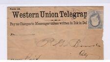 Western Union Telegraph, one cent Banknote, Brimfield, Illinois, 1886