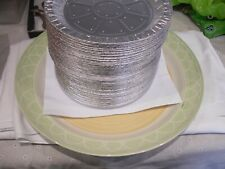 "100 x 9"" Round Aluminium Tin Foil Dish Baking Pie Quiche Tart Tray 1"" DEEP NEW"