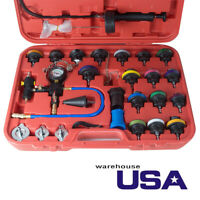 New 27 Pcs Universal Automotive Radiator Pressure Cooling System Leak Tester USA