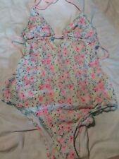 Victoria's Secret Pink Bathing Suit Floral Monokini One Piece Swimsuit large