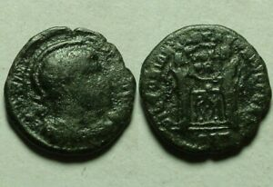 Constantine I Victory shield Rare CELTIC Barbarous style of Ancient Roman coin