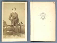 L'acteur autrichien Wilhelm Knaack par L. Angerer  CDV vintage albumen cart
