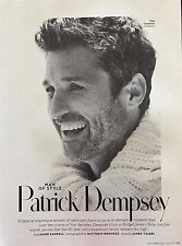 Patrick Dempsey 4pg INSTYLE magazine feature, clippings