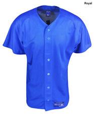 New Mizuno Royal Blue Polyester Mesh Runbird Baseball Jersey Mens Size- Small