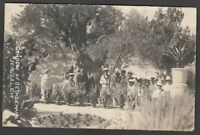 Postcard Middle East Jerusalem the Garden of Gethsemane with Royal Marines RP