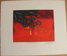 Gravure etching signée numérotée de Georges DUSSAU Respective transition 1995 **