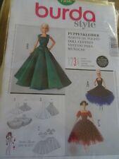 7336 Patron BURDA poupee Barbie 3 Creations Robe de soiree Chic
