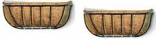 Twin Pack - 60cm Traditional Window Boxes - Wall Trough - Wall Basket - Box