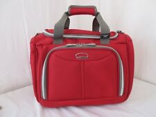 DELSEY Red Carry On Luggage Tote Bag Lightweight Suitcase Over Night NEW NWOT
