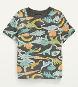 Old Navy Toddler Boy ~ Dinosaur Veggies ~  Short Sleeve Tee ~ Size 2T & 3T