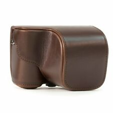 "NIP MegaGear ""Ever Ready"" Brown Protective PU Leather Sony Alpha Camera Case"