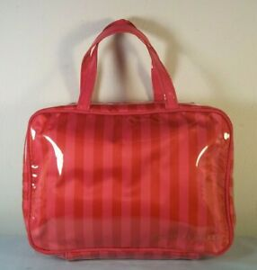 Victoria's Secret Supermodel ICONIC Hanging Train Case Cosmetic Makeup Bag Pink