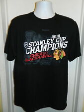 Chicago Blackhawks 2010 Stanley Cup Champions NHL Hockey T-Shirt MENS Larger
