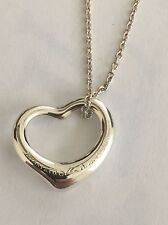 """Tiffany&co Heart Necklace With 16""""Chain"""