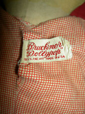 Two Rare, antique cloth labeled: Bruckner, Dollypop dolls, cprt.1925 w/store ad