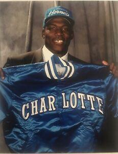 Larry Johnson 8x10 Photo Basketball Charlotte Hornets