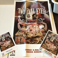 TWO EVIL EYES  GEORGE A ROMERO DARIO ARGENTO ARROW VIDEO  DVD POSTER