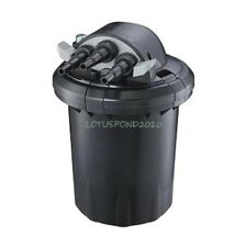 Compact 1500 Gallon Pressure 13W UVC Fish Pond Bio-Filter Easy Backwash Feature