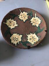 Ancienne Petite Assiette Mural  Ceramique Savoie PS  Terre Cuite