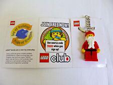 NWT LEGO Club Santa Claus Key Chain 2009; Rare Mini-figure; Exclusive ToysRUs