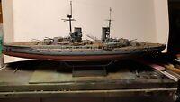 Pro Built German WWI Battleship GroBer Kurfurst 1/350 Scale Model