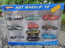 2004 Mattel Hot Wheels 10 Car Gift Pack VW Mustang Camaro Cougar NIP