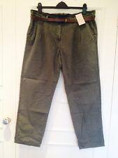 Women's TU Khaki Green Combat Summer Cotton Trousers Size 18, Short 29 Leg, NWT