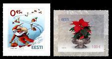 Weihnachten. Skifahrender Weihnachtsmann, Weihnachtsstern. 2W. Estland 2012