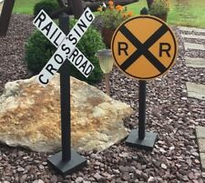 RAILROAD CROSSING Yard, Garden & Party (SET of 2) Graves, Retirement, Birthdays