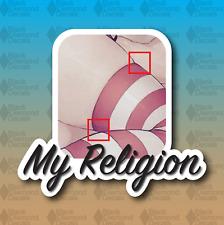 """Stockings Knee High Tight Religion Anime Girl 3"""" JDM MEME Vinyl Decal Sticker"""