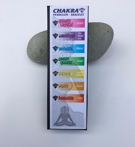 Chakra Pendulum & Bracelet - Clear Quartz