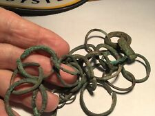 25 Ancient CELTIC or Earlier Bronze CHAIN LOOPS+ RINGS ? HORSE GEAR  or CURRENCY