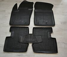 Rubber Car Floor Mats All Weather Custom Fit Carmats Black fit Fiat 500X 2015-