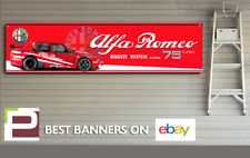 Alfa Romeo 75 Turbo Logo Banner for Workshop, Garage, Office, Man Cave, IMSA,
