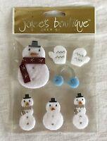 NEW Jolee's Boutique Stickopotamus Sticker Collage - Snowmen - SPJC027