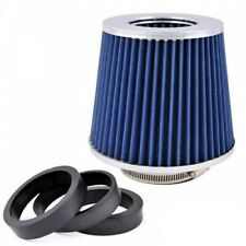 150mm Sportluftfilter Blau / Chrom Top Luftfilter Konisch 3 Adapter Universal