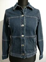 Steilmann Blue Denim Jacket UK Size 10 zip pockets lightweight Germany
