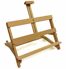 BEECH WOOD FOLDABLE TABLE TOP DISPLAY EASEL, ARTIST ART CRAFT WOODEN WEDDING