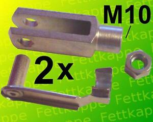 4 x Gabelkopf ES-Bolzen Sicherungsbolzen Gabelgelenk 12x24 DIN 71752 M12