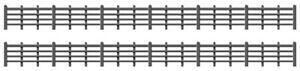 RATIO 00 Gauge Trackside, Scenic Kit No: 425 Black Lineside Fencing 4 Bar.