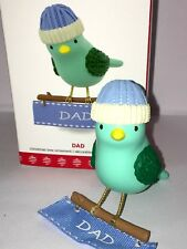 HALLMARK Keepsake 2017 DAD Winter Bird CHRISTMAS TREE ORNAMENT Collectible NEW